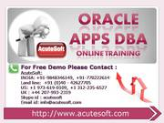 Oracle Apps DBA Online Training | Oracle Apps DBA Online Course